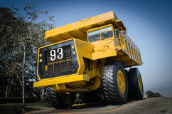 Large haul truck. Ready for big job in a mine. Low saturation and Stock Photos