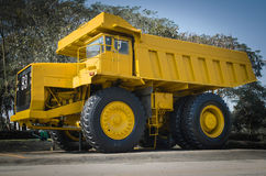 Large haul truck. Ready for big job in a mine. Low saturation and Royalty Free Stock Photography