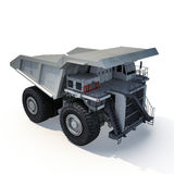 Large haul truck ready for big job in a mine. On white. 3D illustration Stock Images