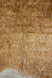 Large Hay Bales with Pitchfork royalty free stock photography
