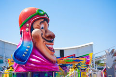 Large head atLuna Park, Melbourne Royalty Free Stock Images