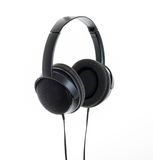 Large Headphones over white background Stock Images