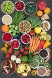Large Health Food Sampler Royalty Free Stock Photo