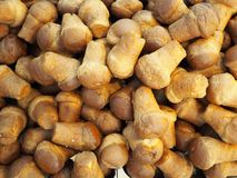 Large heap of Baba, the famous italian sweet of Naples. Food background and texture stock photo