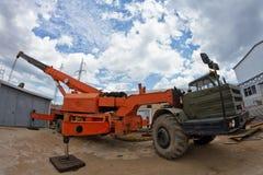 Large heavy-load crane unfolded Stock Image