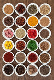 Large Herb and Spice Sampler Royalty Free Stock Images