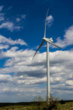 A Large High Tech Industrial Wind Turbine Generating Clean Electricity in Oklahoma Royalty Free Stock Photos
