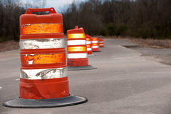 Large Highway Cones Stock Photo