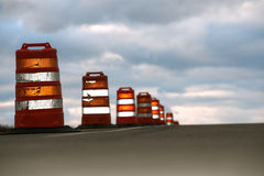 Large Highway Cones Royalty Free Stock Image