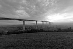 Large highway viaduct ( Hungary) Royalty Free Stock Photography