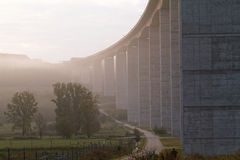 Large highway viaduct ( Hungary) Royalty Free Stock Photos