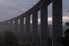 Large highway viaduct ( Hungary) Royalty Free Stock Images