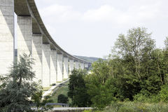 Large highway viaduct Royalty Free Stock Images