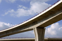 Large highway viaducts Royalty Free Stock Photography
