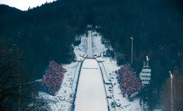 Large Hill in Zakopane. The World Cup Ski Jumping on Large Hill in Zakopane 2008 royalty free stock photos