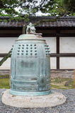 Large historic bell at Nijo Castle. Royalty Free Stock Photography