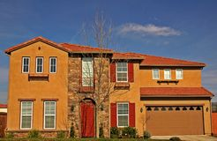 Large home. In a residential neighborhood Stock Photo