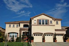 Large home. Large single-family home in a residential neighborhood Stock Photography