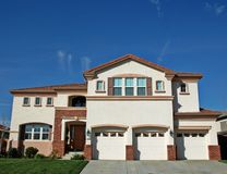 Large home. In a residential neighborhood Royalty Free Stock Photo