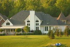 Large Home Backyard. Large luxurious home Stock Photos