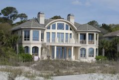 Large home on beach Royalty Free Stock Photo