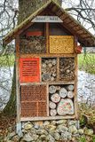 Large home made insect hotel Royalty Free Stock Images