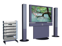 Large home Plasma televisional screen 4. Stock Photos