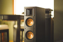 Large home theater speaker royalty free stock photos