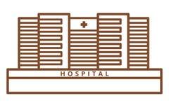 Large Hospital Building Royalty Free Stock Photos