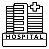 Large Hospital Building Royalty Free Stock Images