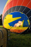 Large hot air balloon before start Stock Image