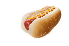 Large hot dog Royalty Free Stock Images