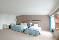 Large hotel room. Interior of a large hotel room Stock Photography