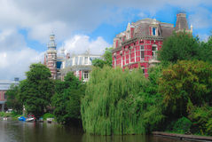Large house in Amsterdam Royalty Free Stock Image