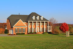 Large House in Autumn Royalty Free Stock Photography