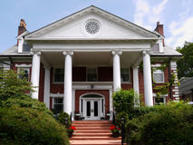 Large house with columns Royalty Free Stock Image