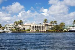 Large House in Fort Lauderdale Royalty Free Stock Images