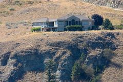 Large house on a hill royalty free stock photos