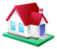 Large house icon. 3d perspective Stock Photography