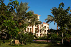 Large house in the tropics Stock Images