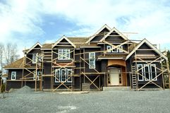Large House Under Construction Royalty Free Stock Photos