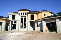 Large House under construction Stock Photos
