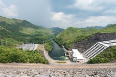 Large hydro electric dam in Thailand Stock Images
