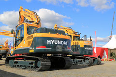 Large Hyundai 140LC Crawler Excavator Royalty Free Stock Photos