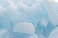 Large ice floes on Baikal Royalty Free Stock Photos