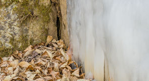 Large ice flow on the side of a hill Royalty Free Stock Photography
