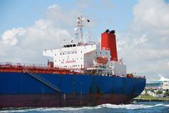 Large iceangoing cargo ship Stock Photos