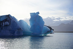 Large iceberg. On Jokulsarlon lagoon Iceland Royalty Free Stock Images