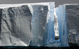 Large icebergs with passage Stock Photography