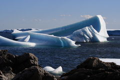 Large Icebergs in St. Carol's Stock Images